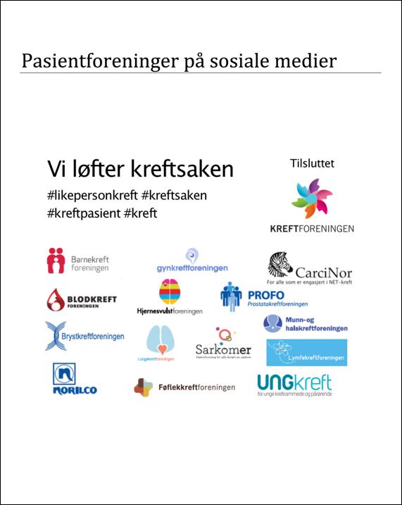 Pasientforeninger på sosiale medier - CarciNor desember 2015