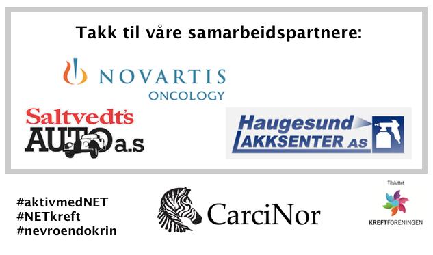 Takk til våre samarbeidspartnere: Novartis Onkologi, Haugesund Lakksenter AS og Saltvedt's Auto a.s.