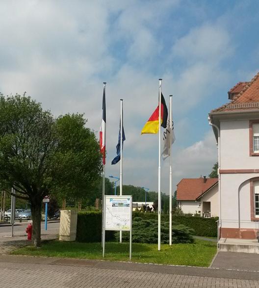 Grenseovergangen Tyskland Frankrike. Foto: Arne Ingvaldsen.