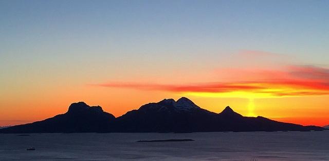Landegode sett fra turisthytta. Foto: Jannike Ramsvik.
