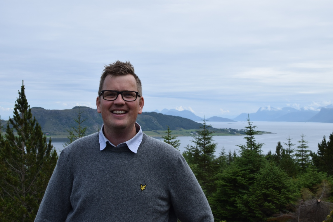 Roy Farstad brenner for lokalsamfunnet på Lepsøya! Foto: Mari Sandvold