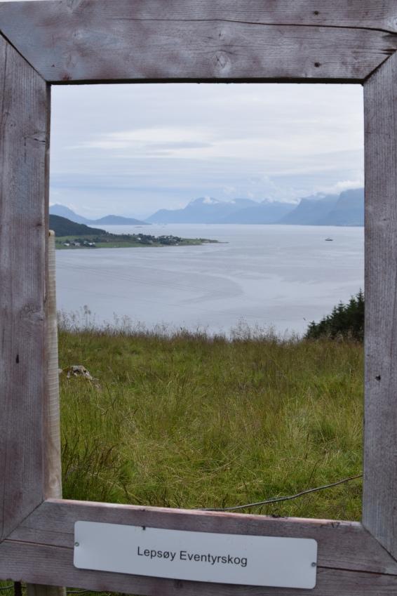 Utsikt frå Lepsøya mot Austnes på Haramsøya. Foto: Mari Sandvold.