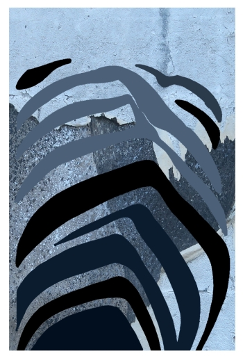 """""""Det som er bak"""", illustrasjon av Svenn A. Hansen."""