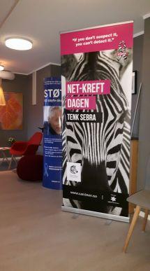 Markering av NET-kreft dagen på UNN i Tromsø. Foto: CarciNor Nord