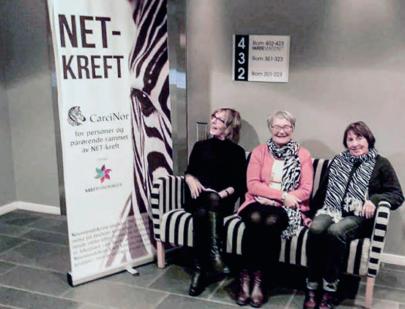 Fra NET-kreft dagen i Bodø: Vigdis Eriksen, Siv Liland og Lillian Valle. Foto: CarciNor.