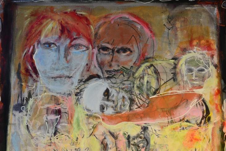 Akryllbilde i arbeid: Tone Simonsen