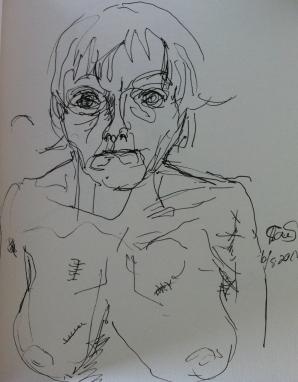 Tone Simonsen tegnet et selvportrett hver dag i et helt år.